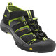 Keen Kids Newport H2 Sandals Black/Lime Green